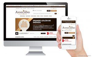 Annechino Leiloes - responsive website
